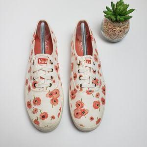 KEDS Poppy Flower Print Sneakers Floral